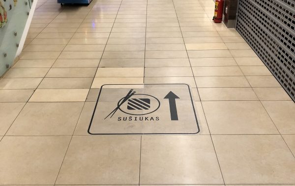 Floor sticker Sušiukas